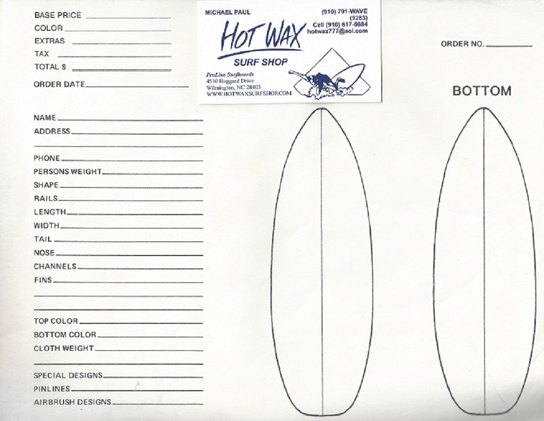Proline Order Form