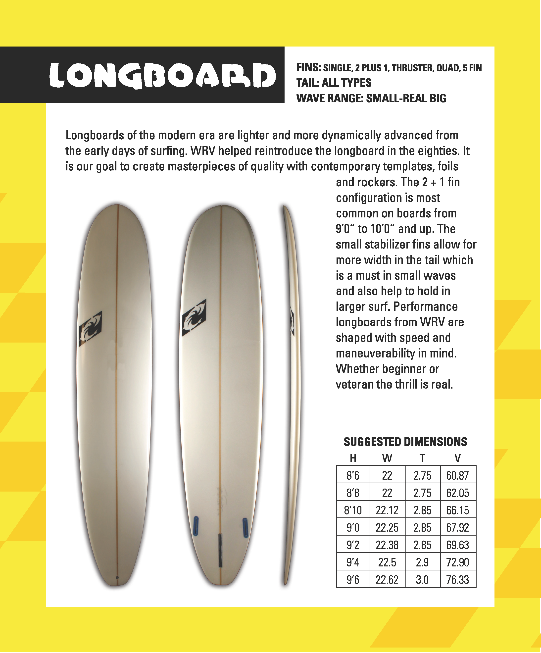 "WRV ""Longboard"" Surfboards"